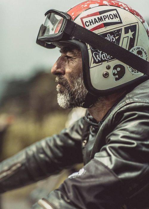 Anchor Bolts Cafe Racer Style Vintage Helmet Cafe Racer