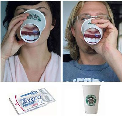 Image result for wrigleys funny paper cup ad