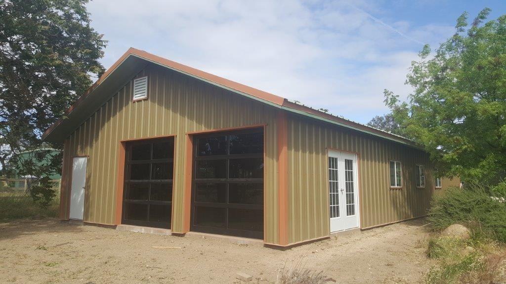 Custom Touches Steel Buildings Garage Door Panels Indoor Outdoor Living