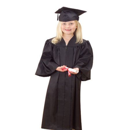 Childrens Nursery Graduation Gown And Hat 3-6 Years Kids Choir Costume With Caps
