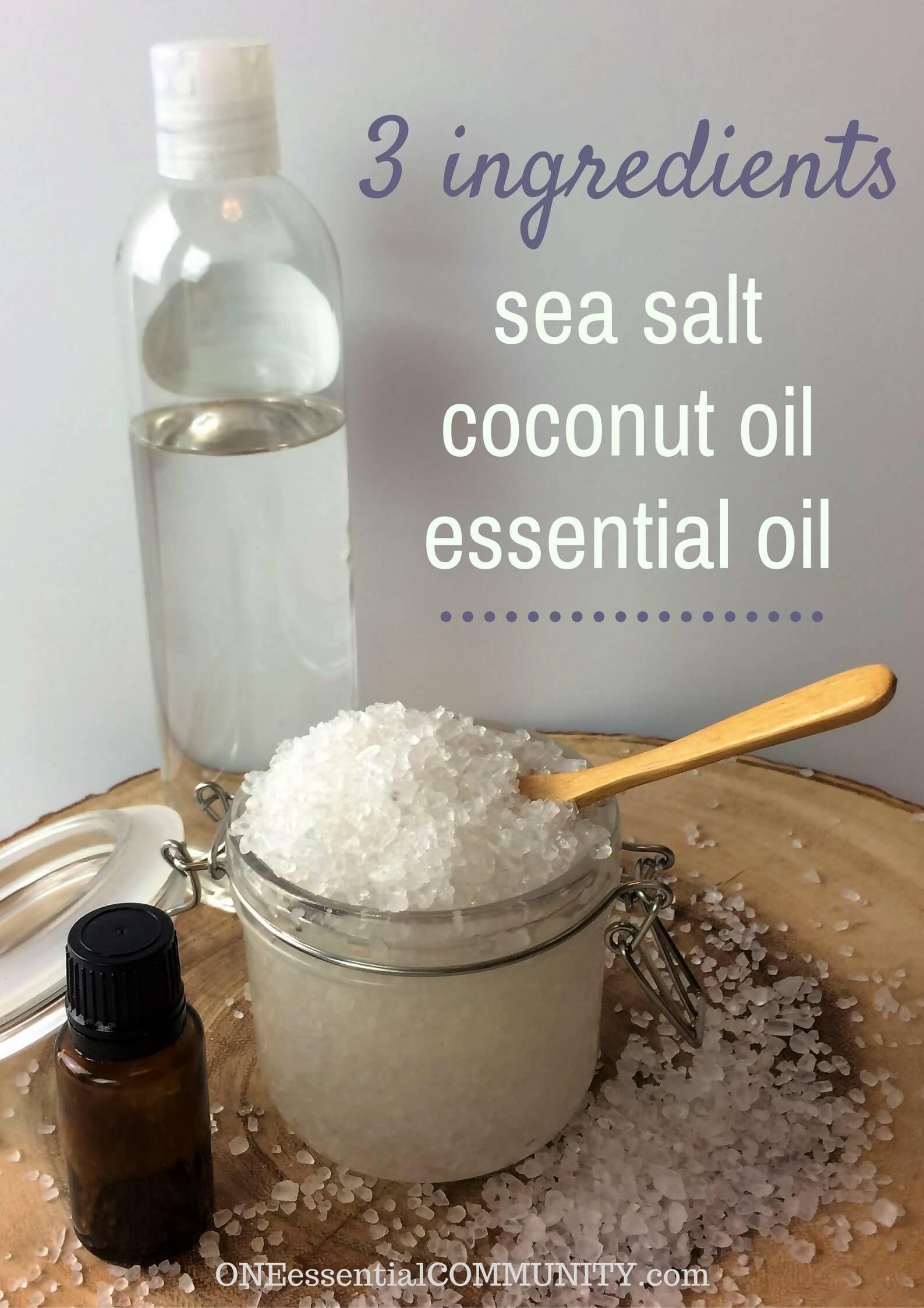 Homemade Coconut Salt Scrub with Essential Oils ...