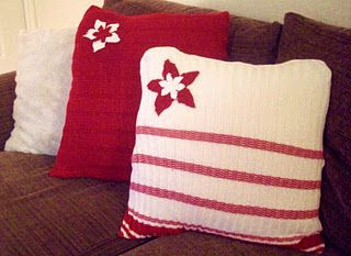 Easy No-Sew Christmas Sweater Pillows Tutorial, so cute!