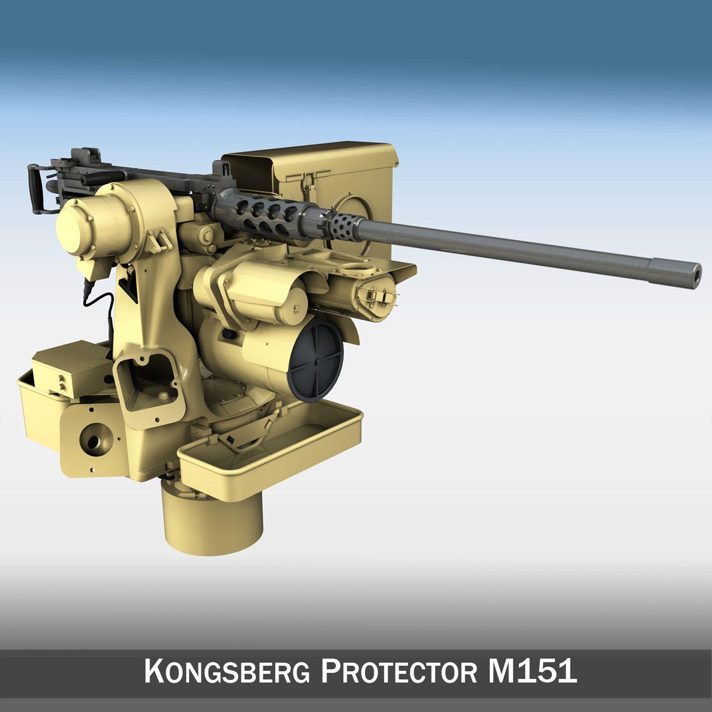 Kongsberg Protector M151 RWS 3D Model- RWS Kongsberg Protector M151