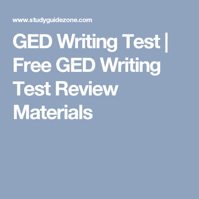 GED Writing Test | Free GED Writing Test Review Materials