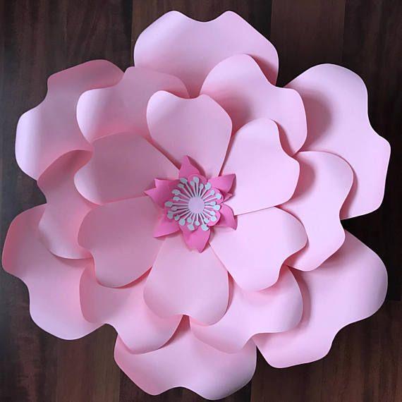 Pdf petal 52 paper flower template digital version original by pdf paper flower template with base digital version mightylinksfo