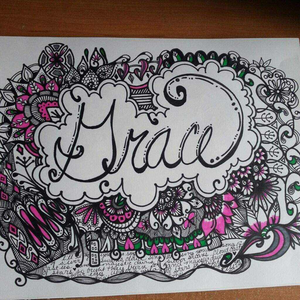 Image result for images of name doodles Rainbow