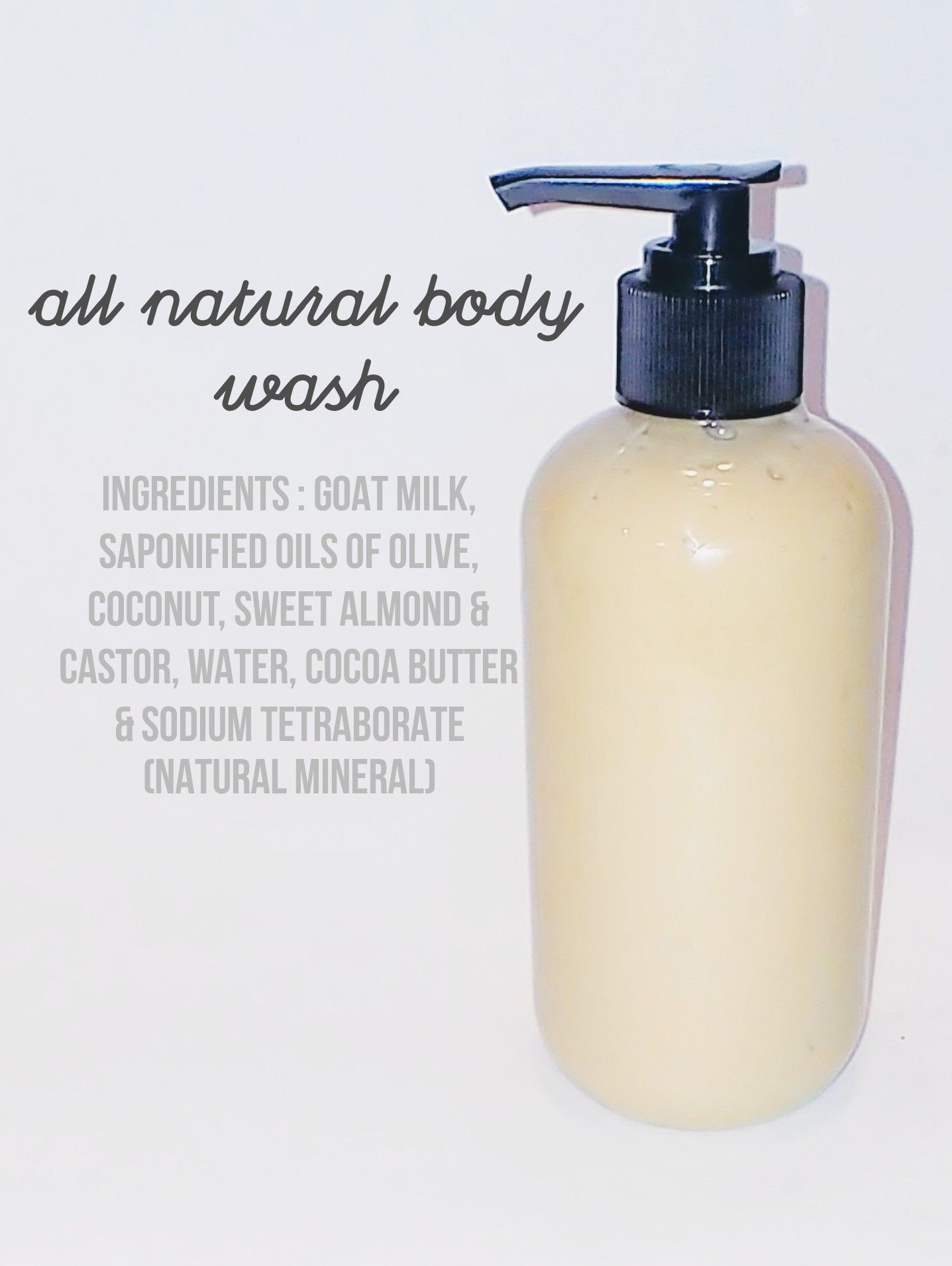 homemade dishwashing liquid can also be used as body