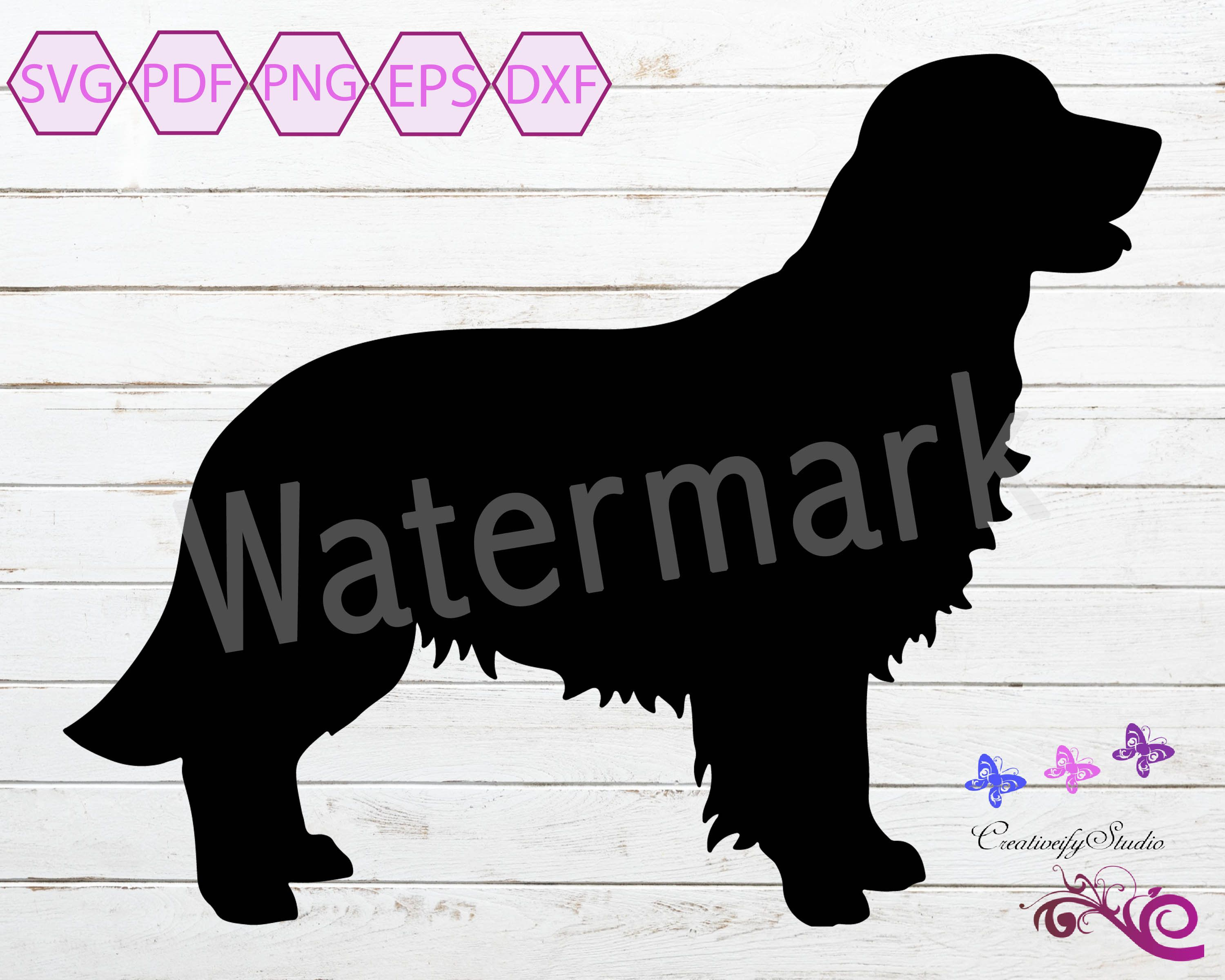 Golden Retriever Svg Dog Clipart Golden Retriever Silhouette