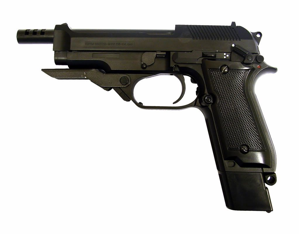 Beretta 93R-Machine pistol- 9mm NATO,