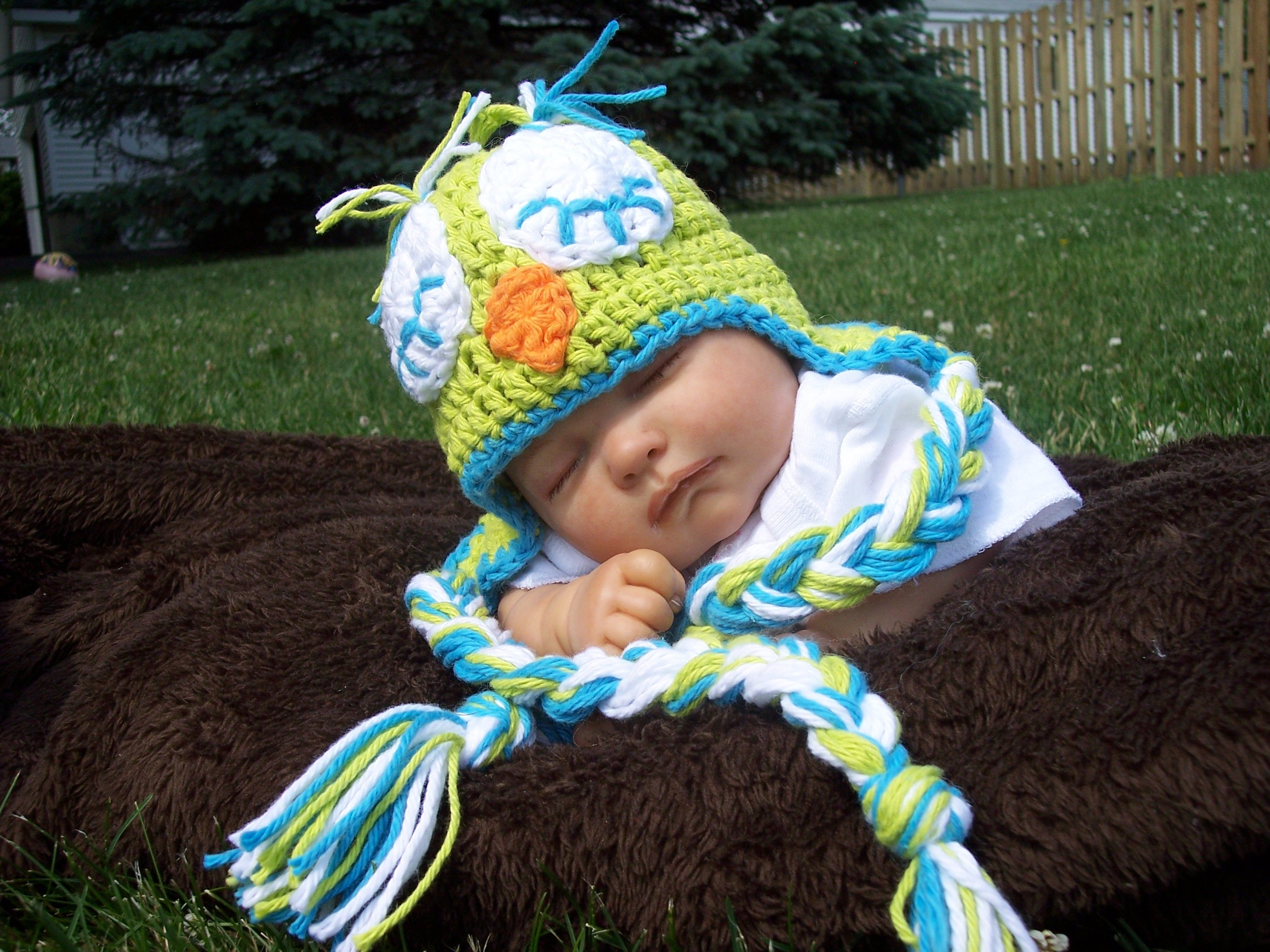 Sleeping Owl Baby hat crochet pattern   Crochet   Pinterest ...