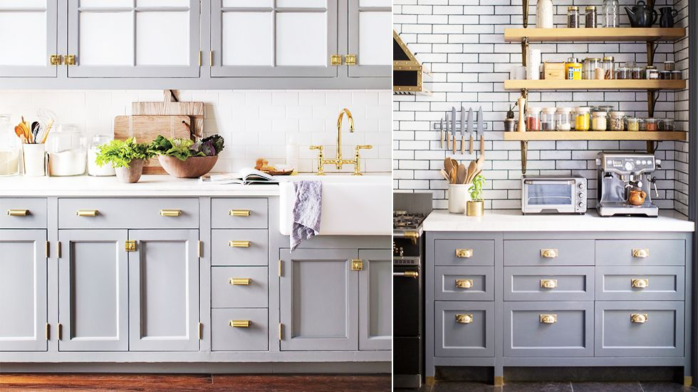 These Are Our Favorite Kitchen Cabinet Paint Colors Grey Blue