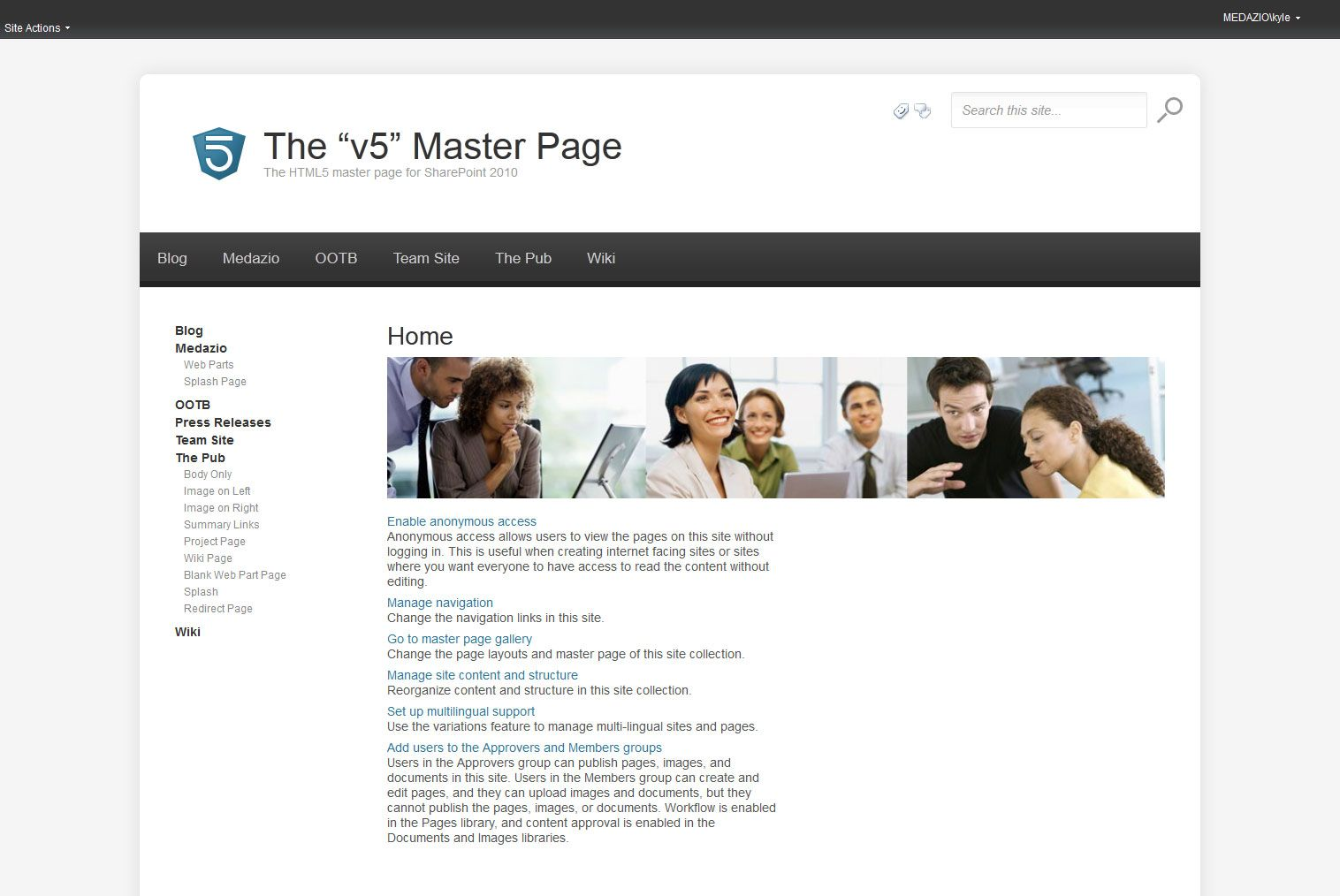 HTML5 Master Page for SharePoint 2010 | Code for It | Pinterest