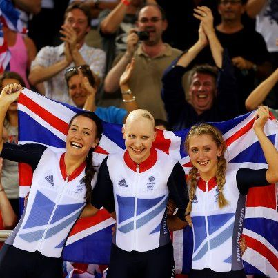 Dani King, Joanna Rowsell, and Laura Trott