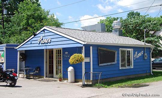 Photo Of The Vibrant Blue Exterior Of Rene S Bakery In Broad