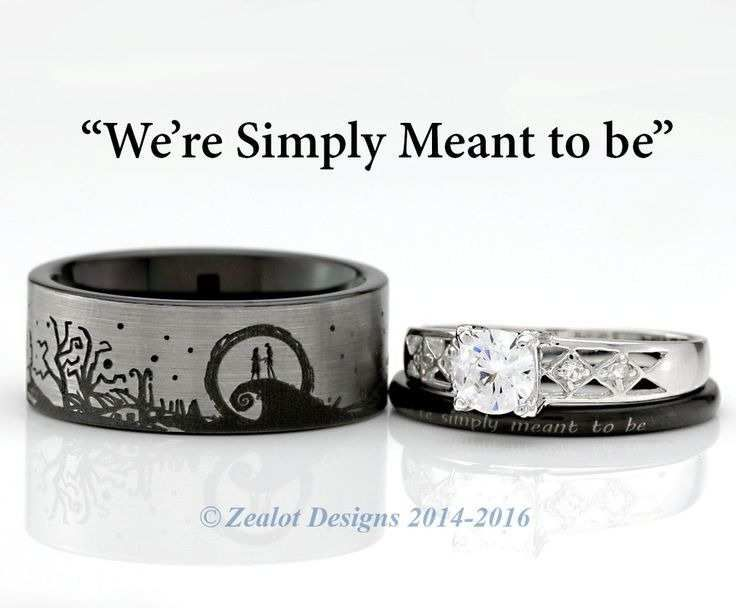 Jack and Sally Wedding Rings Best Of the Nightmare before Christmas Rings – This…