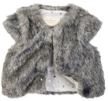 f39e6449f97b kate spade new york faux fur vest (Baby Girls)   Baby and Kids ...