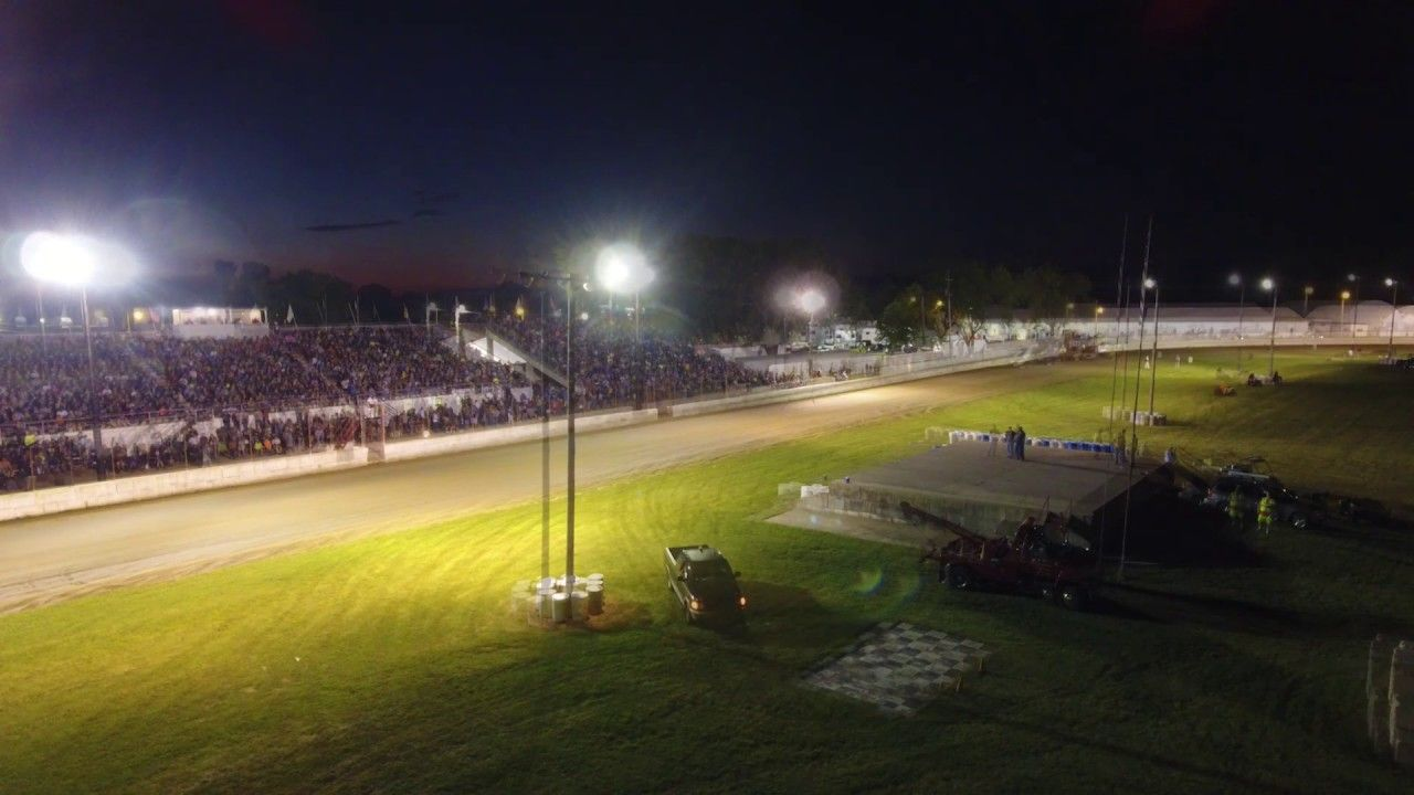 Under The Lights Aerial Video With Ira 410 Outlaws Msa 360 Sprint Cars And Dirt Kings Late Models Sprint Cars Wisconsin Events Aerial Video