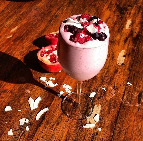Berry, Pomegranate and Coconut Smoothie