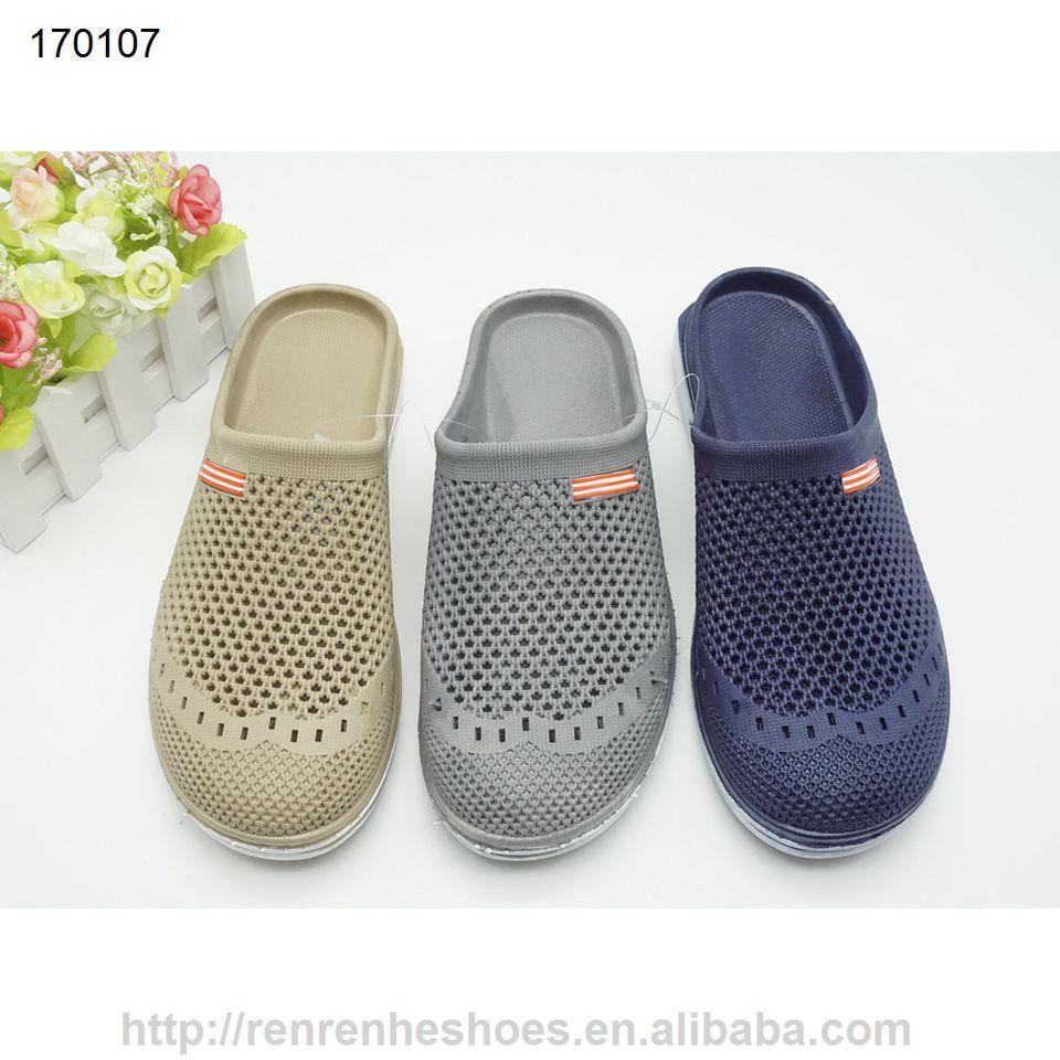af1379685b61 PVC air blowing men slipper sandal outdoor garden shoes