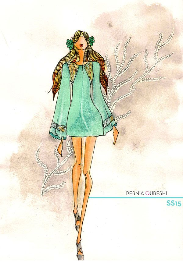 Fashion Illustration for Pernia Qureshi Label on Behance