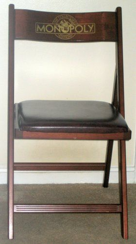 Franklin Mint Official Monopoly Millionaireu0027s Chair Set Of Two Folding Wood  Mahogany 2 Chairs $200