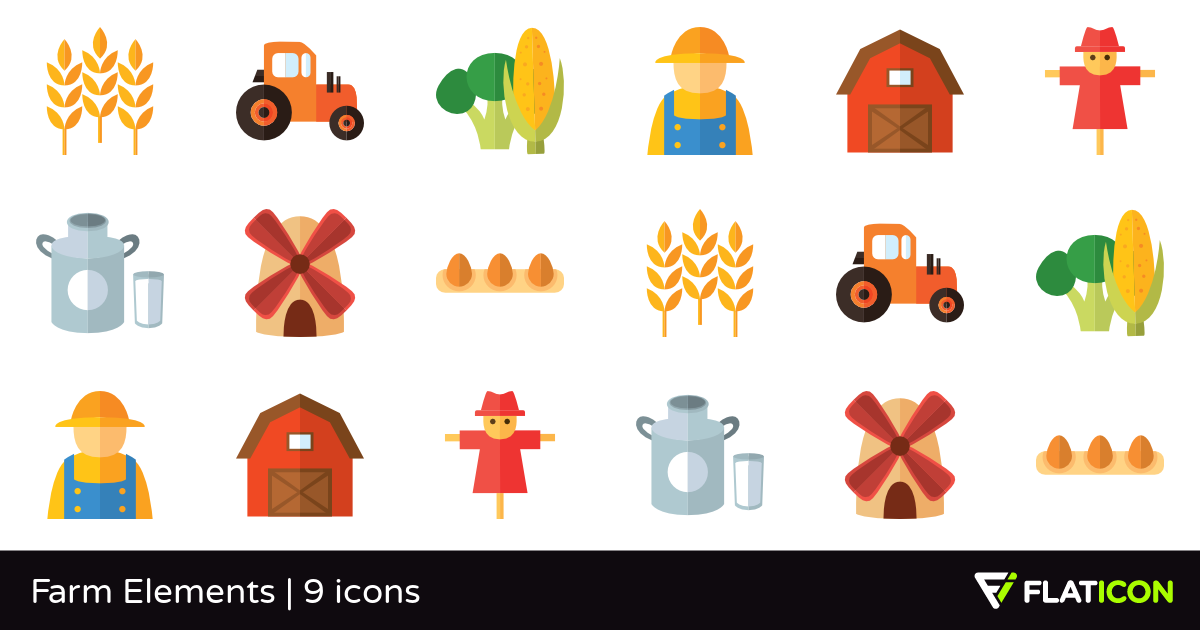 9 Free Vector Icons Of Farm Elements Designed By Freepik Free Icons Vector Free Elements
