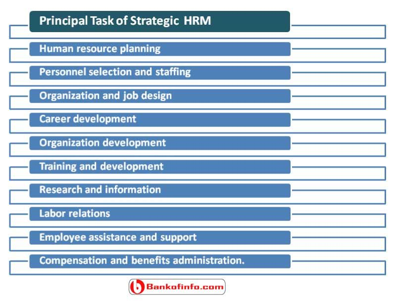 Principal task of strategic human resources management (SHRM - human resource job description