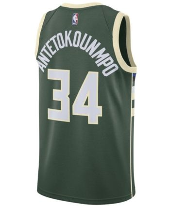 1592fb11d9e Nike Men's Giannis Antetokounmpo Milwaukee Bucks Icon Swingman Jersey -  Green L