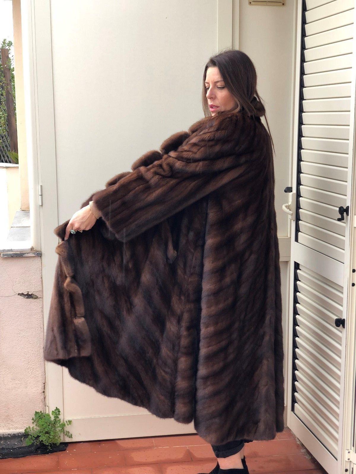 size 40 5f5b3 5e75f Détails sur Mink Coat Pelliccia Visone Nerz Pelz Fur ...