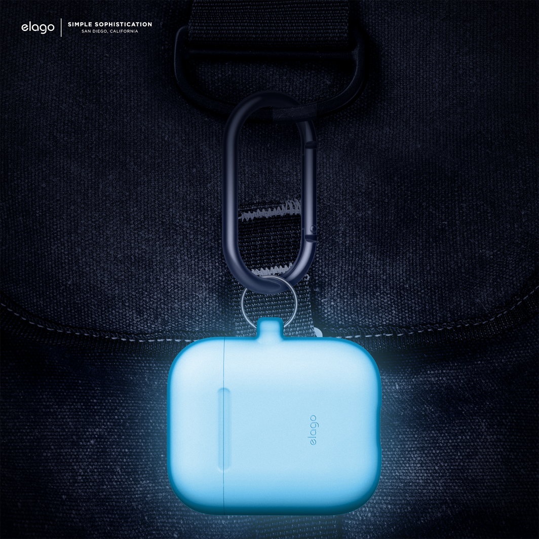 Elago Airpods Hang Case Night Glow Blue Airpod Case Keychain Design Case