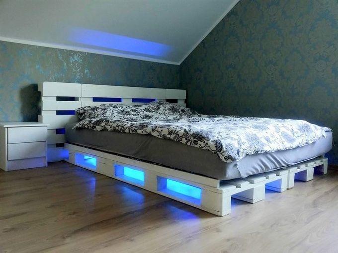 Diy Ideas For Wood Pallet Beds แต งบ าน การตกแต งห องนอน
