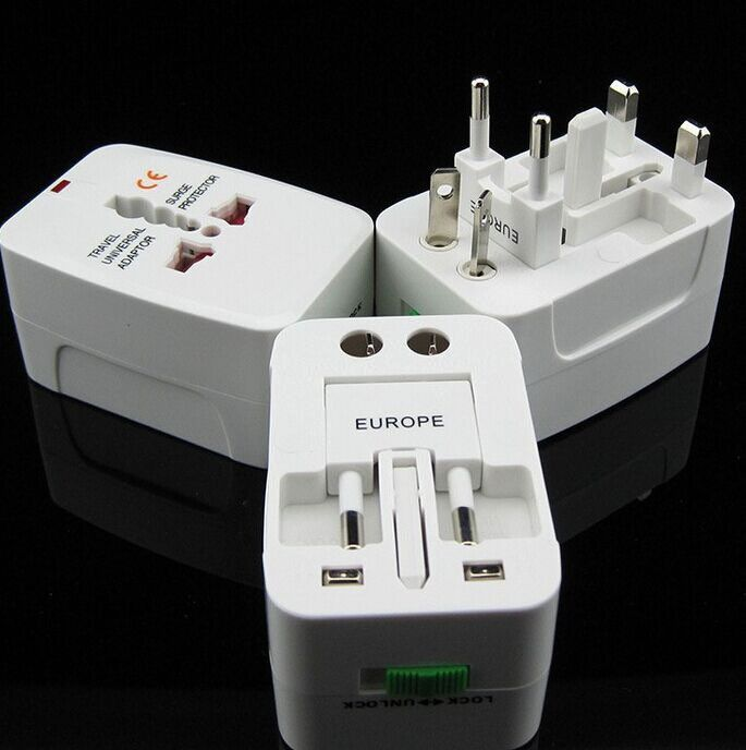 Universal Travel Adapter Converter Electrical Plug Socket US UK EU ...