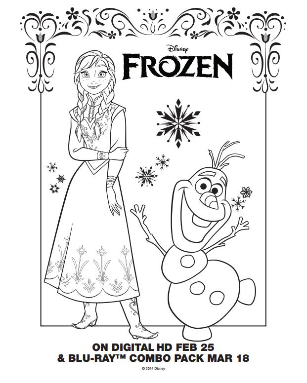 Frozen Coloring Pages Pdf 01 Dibujos De Frozen Frozen Para