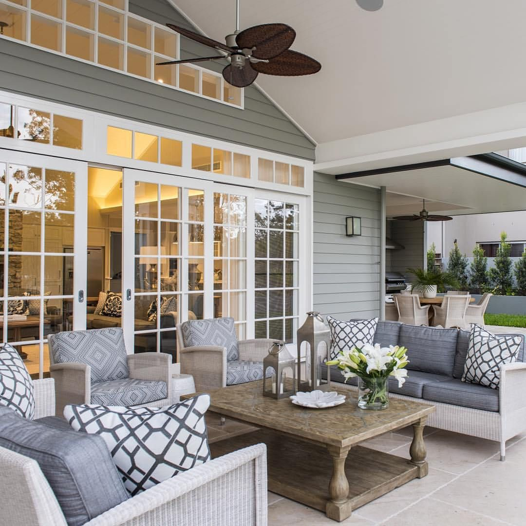 Relaxed Tropical Queensland Hamptons Style Home | Outdoor ... on Ab And Outdoor Living id=28948