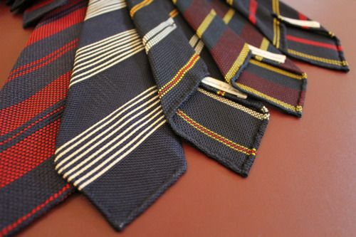 Drakes of London. Striped grennies. One could build a style around these.