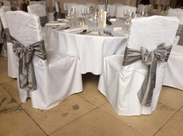 wedding chair cover hire brighton ostrich deluxe 3n1 beach wiston house steyning exclusive sussex venue elegant bespoke linen covers with lace hood and sash detail from pollen4hire www co uk