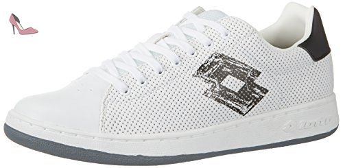 Micro Blanc Lotto V Homme 42 Basses Sport whtblk 1973 Sneakers twqxfR7S