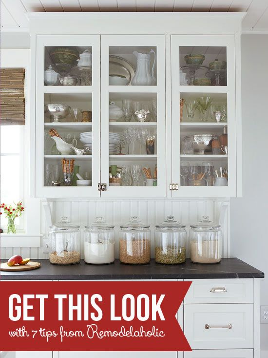 Beau Get This Look   Classic Kitchen Curio   Remodelaholic.com