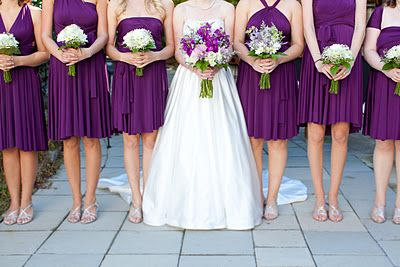I like how the maid of honor has different flowers than the other bridesamids
