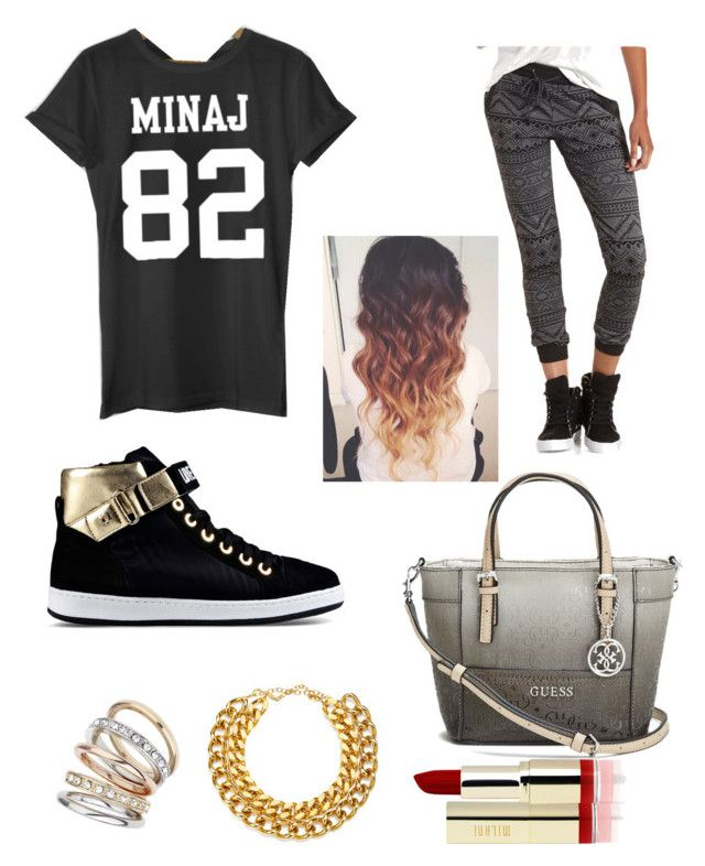 """Galaxy"" by bribri0102 ❤ liked on Polyvore featuring Nicki Minaj, Charlotte Russe, Love Moschino, GUESS, Wallis and A.V. Max"