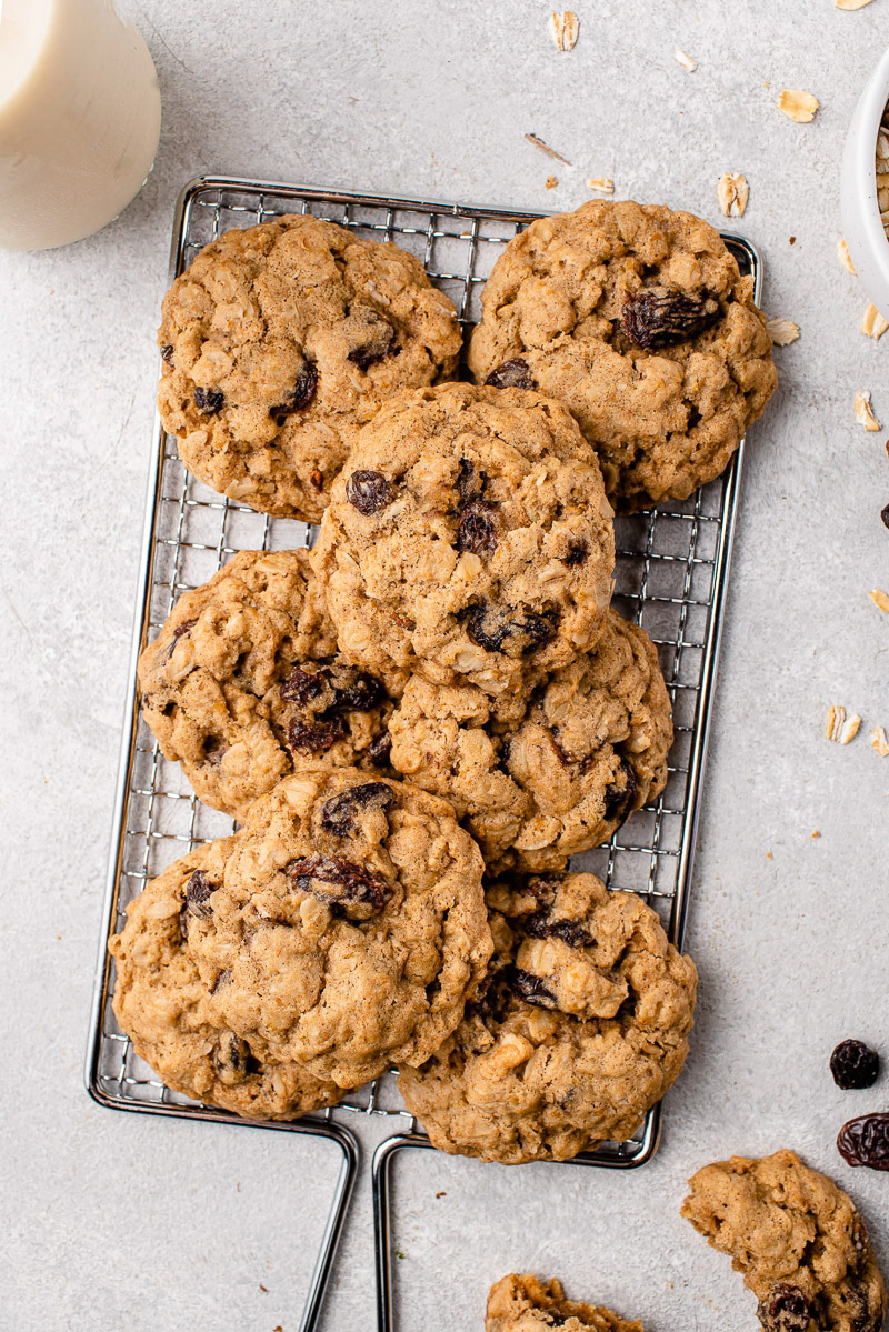 The Best Vegan Oatmeal Raisin Cookies - Sweet Simp