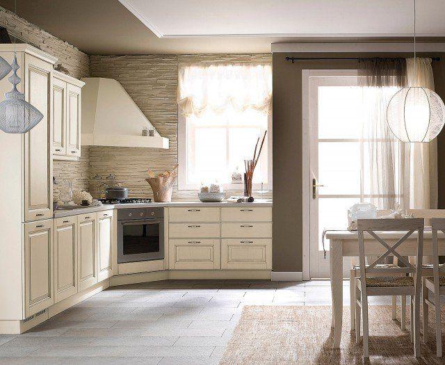 Nella cucina Memory di Veneta Cucine l\'angolo è sfruttato per fuochi ...