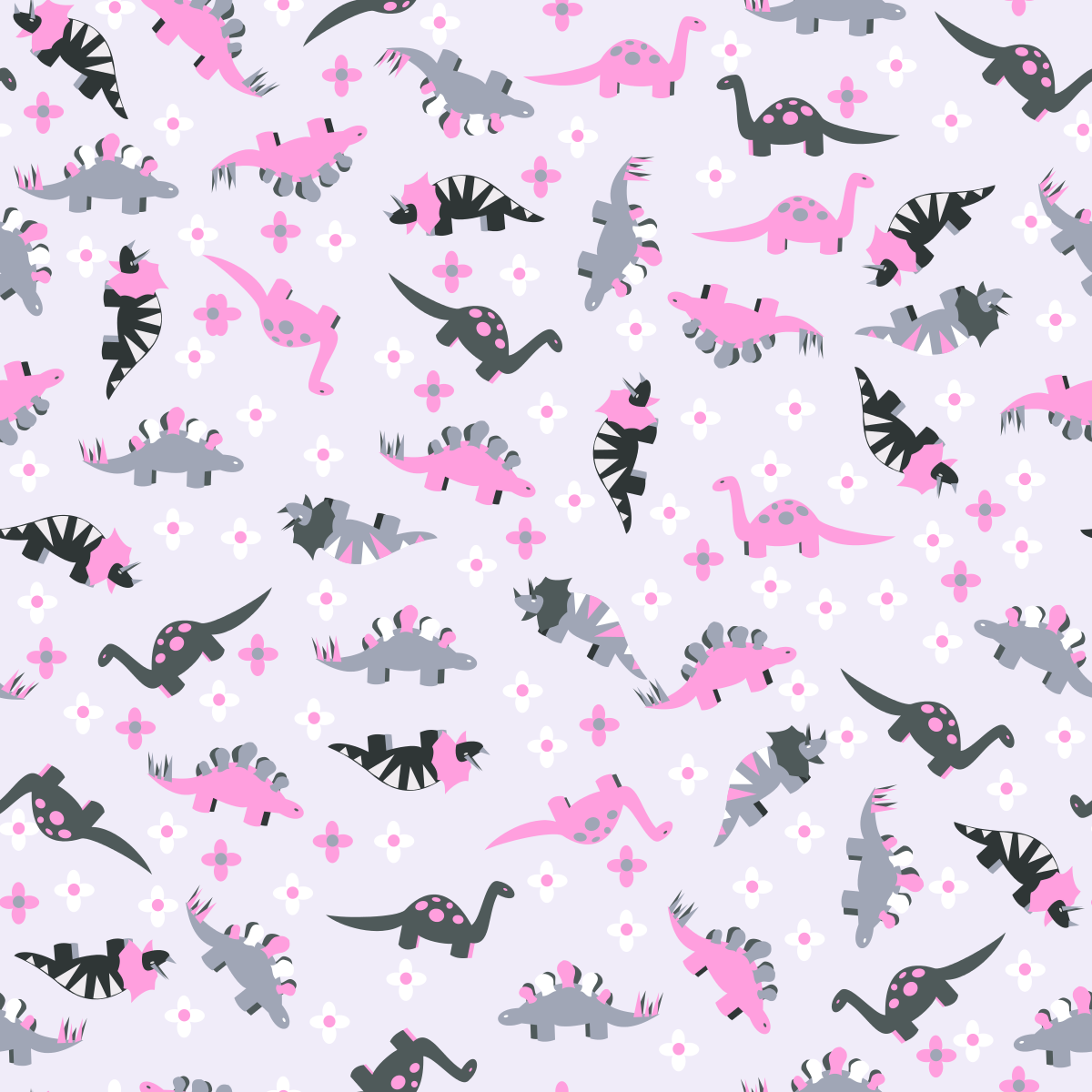 Colorful Fabrics Digitally Printed By Spoonflower Ditsy Pink Dinosaur Floral In 2020 Dinosaur Wallpaper Dinosaur Background Cute Screen Savers