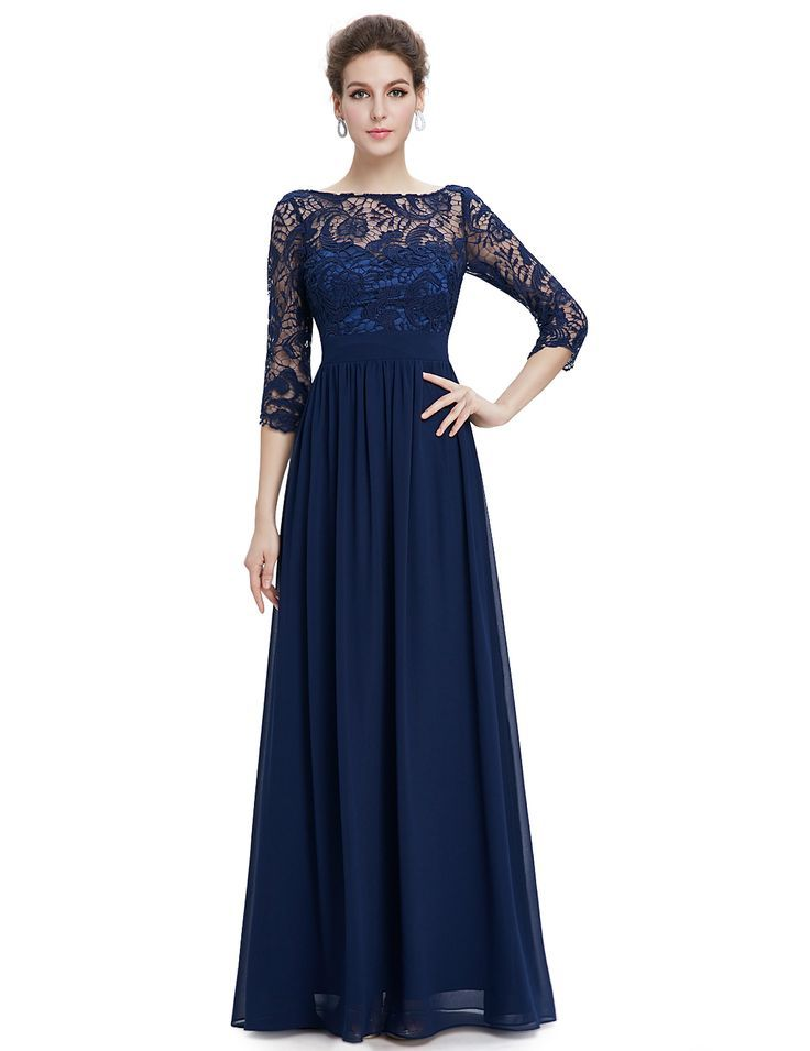Navy Blue Long Lace Dress Love This Long Lace Evening Dress