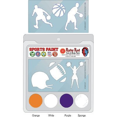RUBY RED PAINT, INC. College Sports Face Paint NCAA Team: Clemson