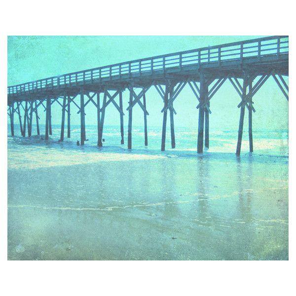 Pier Beach Art Print - Aqua Blue Beach House Ocean Wall Art Home Decor Wall Photograph 8x10 Photo This photo was taken and digitally manipulated by me :) This p...