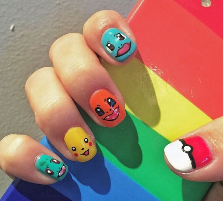 Colorful-Pokemon-Pikachu-Nails-Art-Designs.jpg 759×684 - Colorful-Pokemon-Pikachu-Nails-Art-Designs.jpg 759×684 Pixels