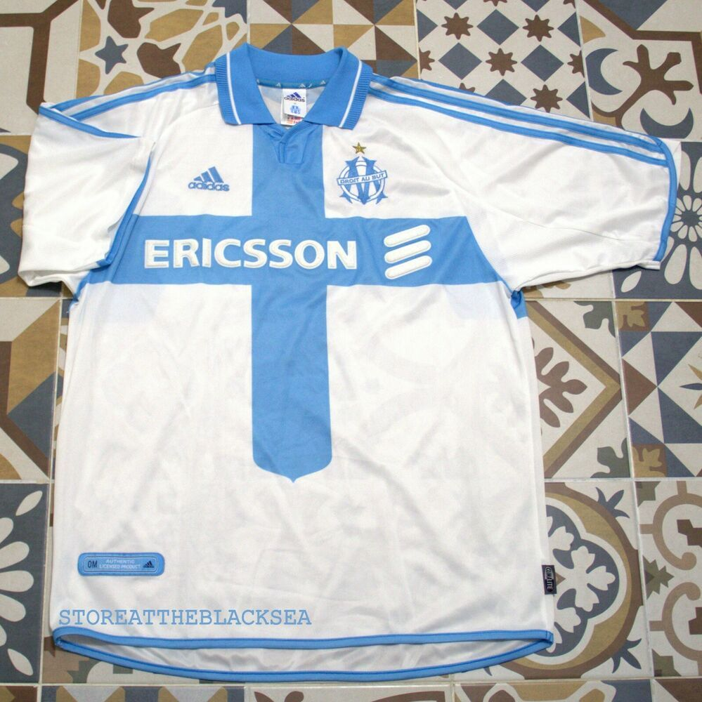 Details about OLYMPIQUE MARSEILLE 2000 2001 HOME FOOTBALL
