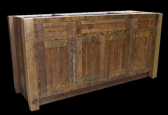 rustic wood vanities mountain furniture reclaimed barn wood