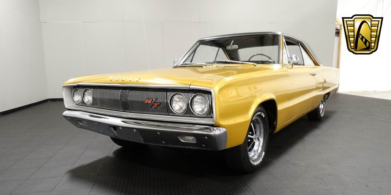 For sale in our louisville kentucky showroom is a gold 1967 dodge coronet r